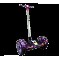 Гироскутер с ручкой Smart Balance A8 - фиолетовый космос